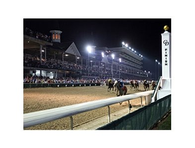 Night racing at Churchill Downs on June 19.