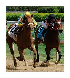 "Lou Brissie (left) comes home strong to take the Kentucky Juvenile Stakes. <br><a target=""blank"" href=""http://www.bloodhorse.com/horse-racing/photo-store?ref=http%3A%2F%2Fpictopia.com%2Fperl%2Fgal%3Fprovider_id%3D368%26ptp_photo_id%3D8937230%26ref%3Dstory"">Order This Photo</a>"