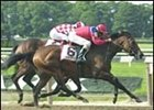 Xtra Heat, winnning her first grade I stake in the Prioress.
