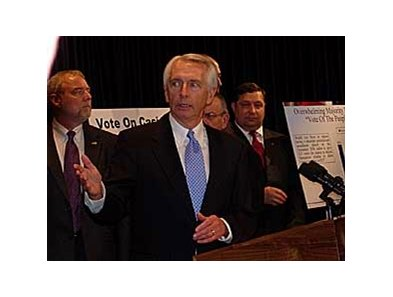 Gov. Steve Beshear's Kentucky casino legislation faces delays before being voted upon by the state legislature.