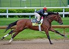 Keen Ice works at Churchill Downs April 25.