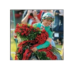 Jockey Mike Smith aboard Derby winner Giacomo.