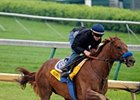 Sidney's Candy worked six furlongs in 1:11 3/5 the morning of Saturday, April 24.