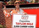 Taylor Hole celebrates win number 2,000.