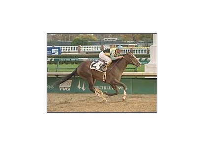 Sir Cherokee won the Ack Ack Handicap in his first race back from ankle surgery.
