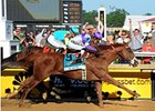 "I'll Have Another wears down Bodemeister to win the Preakness. <br><a target=""blank"" href=""http://photos.bloodhorse.com/TripleCrown/2012-Triple-Crown/Preakness-Stakes-137/23013252_TrG3NS#!i=1855846501&k=4TZgvKF"">Order This Photo</a>"