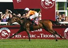 Danedream winning the Prix de l'Arc de Triomphe.