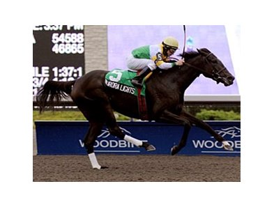 Aurora Lights pulls away in the Selene Stakes at Woodbine.