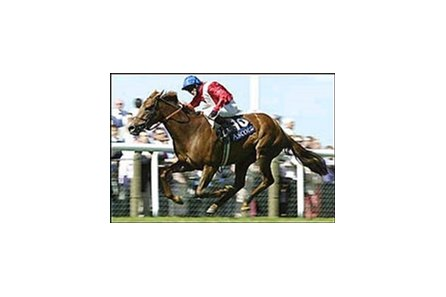 Russian Rhythm, with Kieren Fallon aboard, winning the Coronation Stakes.