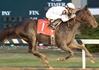 Skylighter draws off in the Indiana Oaks.