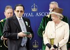 Alec Wildenstein (left), owner of Westerner, receives the Ascot Gold Cup.