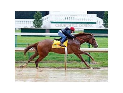 Shackleford working at Churchill Downs