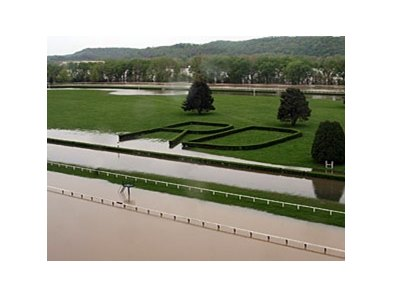 Flooding has delayed the opening of River Downs.