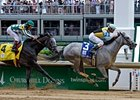 "Miss Isella pulls away from favorite One Caroline to take the Louisville Distaff.<br><a target=""blank"" href=""http://www.bloodhorse.com/horse-racing/photo-store?ref=http%3A%2F%2Fpictopia.com%2Fperl%2Fgal%3Fprovider_id%3D368%26ptp_photo_id%3D8060857%26ref%3Dstory"">Order This Photo</a>"