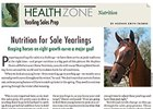 Health Zone: Nutrition & Yearling Sales Prep