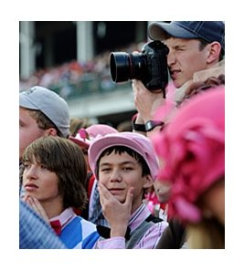 Fans at the 137th Kentucky Derby.