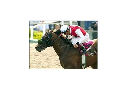 "Time To Get Even wins the Lazaro Barrera Memorial Stakes.<br><a target=""blank"" href=""http://www.bloodhorse.com/horse-racing/photo-store?ref=http%3A%2F%2Fpictopia.com%2Fperl%2Fgal%3Fprovider_id%3D368%26ptp_photo_id%3D1268811%26ref%3Dstory"">Order This Photo</a>"