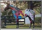 Champ, among the equine artworks on display in Ocala, Fla.