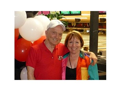 Bill and Connie Harmatz at the Vista Entertainment Center.