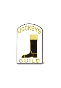 Jockeys' Guild logo, appeared on some jockeys' pants.