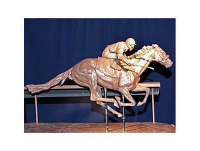Clay model replica of the Barbaro statue which will be created by Alexa King.