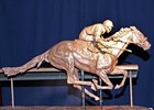 A clay model of the Barbaro statue that is being created for permanent display at Churchill Downs.