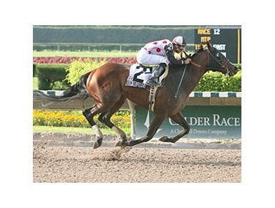 Rockerfeller took the Ponche Handicap, one of three stakes winners for trainer Marty Wolfson at Calder June 14.