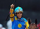 "Victor Espinoza<br><a target=""blank"" href=""http://photos.bloodhorse.com/TripleCrown/2015-Triple-Crown/Preakness-Stakes-140/i-6G67hBp"">Order This Photo</a>"