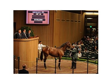 Hip 42 sold for $725,00 at the Keeneland September Sale.