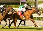 Magical Fantasy winning the Yellow Ribbon Stakes (gr. I) at Santa Anita on Oct. 10.