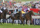 "Was (right) holds off Shirocco Star (black and white silks) to win the Epsom Oaks.<br><a target=""blank"" href=""http://photos.bloodhorse.com/AtTheRaces-1/at-the-races-2012/22274956_jFd5jM#!i=1880470326&k=gdPV8dv"">Order This Photo</a>"