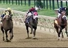 Include (left) rallies in the stretch en route to victory in Saturday's Pimlico Special.