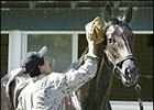Rock Hard Ten is washed by groom Jose Mejia Friday.
