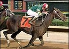 Real Dandy charges for the finish ahead of Magna Graduate to win the West Virginia Derby.