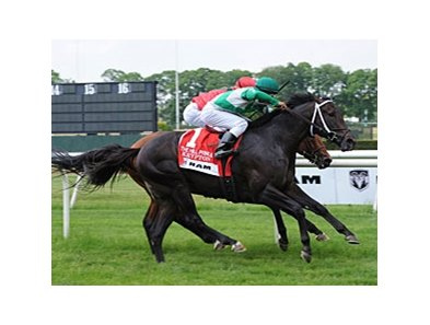 "Krypton outfights Nordic Truce to capture the Hill Prince.<br><a target=""blank"" href=""http://www.bloodhorse.com/horse-racing/photo-store?ref=http%3A%2F%2Fpictopia.com%2Fperl%2Fgal%3Fprovider_id%3D368%26ptp_photo_id%3D9052670%26ref%3Dstory"">Order This Photo</a>"