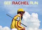"""SEE RACHEL RUN"" promotional flyer from NYRA."