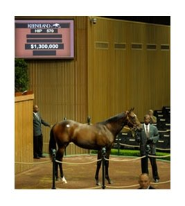 Hip #570; filly, Medaglia d'Oro - Beaties for Real by Unreal Zeal brought $1.3 million on day 3 of the Keeneland September yearling sale.