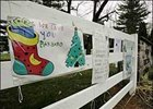 Holiday signs of support for Barbaro at the University of Pennsylvania's New Bolton Center for Large Animals.