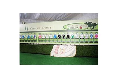 The two-tiered Kentucky Derby post position draw that has been used from 1998 through 2009 (shown) has been discontinued.