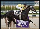 Raging Fever racing in Saturday's Chicago Handicap.