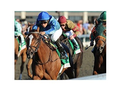 Acoma in the Spinster Stakes.