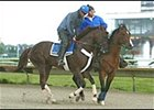 Smarty Jones, returned to the track at Philadelphia Park Wednesday.
