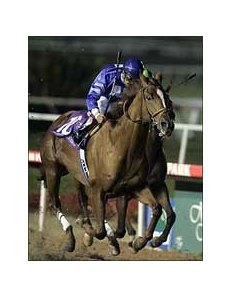Somethinaboutlaura and Victor Espinoza win the A Gleam Invitational at Hollywood Park.