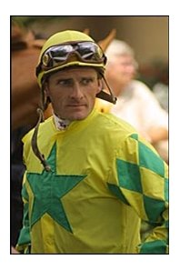 Jockey Jeff Johnston, joining The Jockeys' Guild as a regional manager.