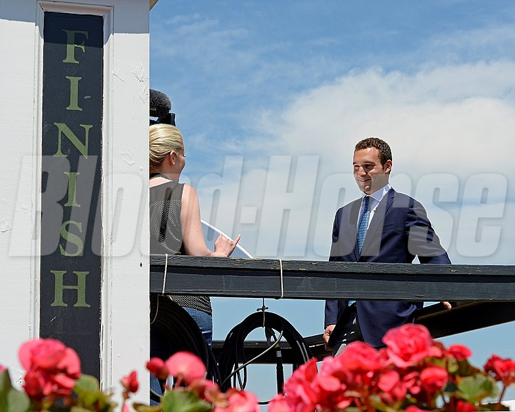 Caption:  Justin Zayat gets interviewed by NBC.