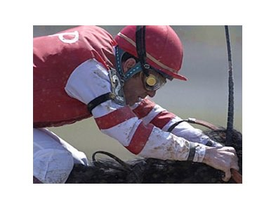 Jockey Jack Lauzon was named the 2008 recipient of the Avelino Gomez Memorial Award May 22.