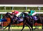 Front-running Laurel Guerreiro edges B B Guldan by a bare nose in Japan's Sprinter Stakes at Nakayama.