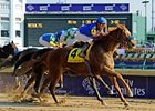 "Mister Marti Gras overtakes Alma d'Oro the win the Ack Ack.<br><a target=""blank"" href=""http://www.bloodhorse.com/horse-racing/photo-store?ref=http%3A%2F%2Fpictopia.com%2Fperl%2Fgal%3Fprovider_id%3D368%26ptp_photo_id%3D9728523%26ref%3Dstory"">Order This Photo</a>"