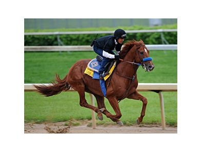 Line of David works at Churchill Downs on Monday, April 26.