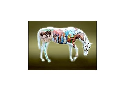 Painted  horse to be auctioned for the benefit of Race Track Chaplaincy of America's Ocala Farm Ministry.